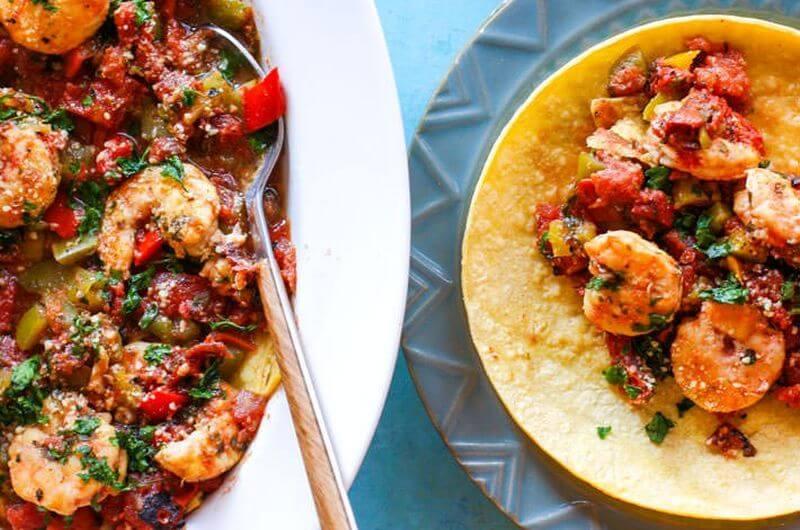 crock po shrimp tacos easy recipe