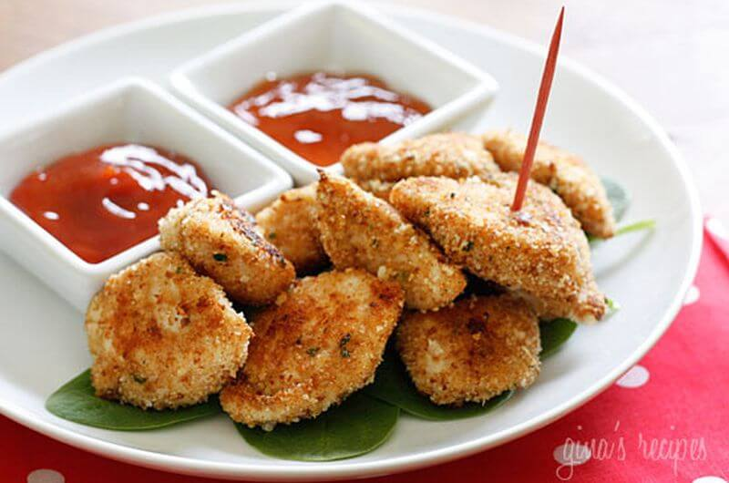 healthy baked chicken nuggets quick meal