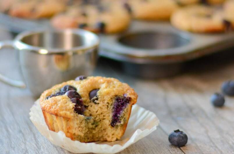 quick breakfast blueberry protein muffins idea