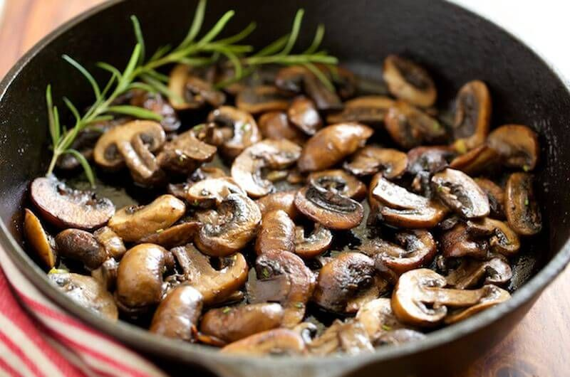 quick breakfast sauteed mushrooms