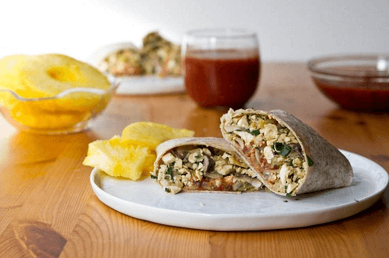 quick breakfast burrito recipe