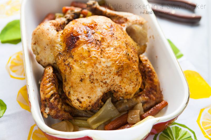 whole chicken easy slow cooker recipe