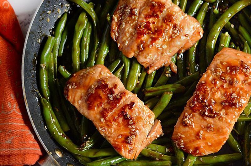 salmon and green beans recipe