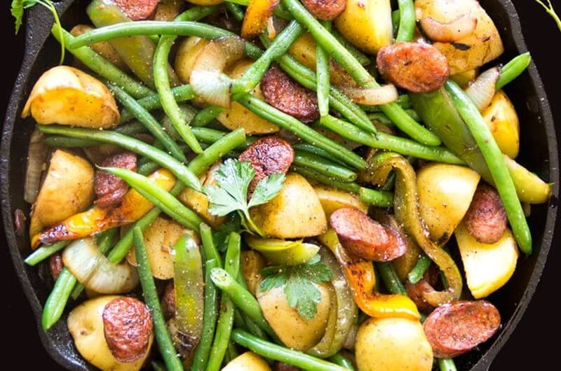 sausage potato and green beans recipe