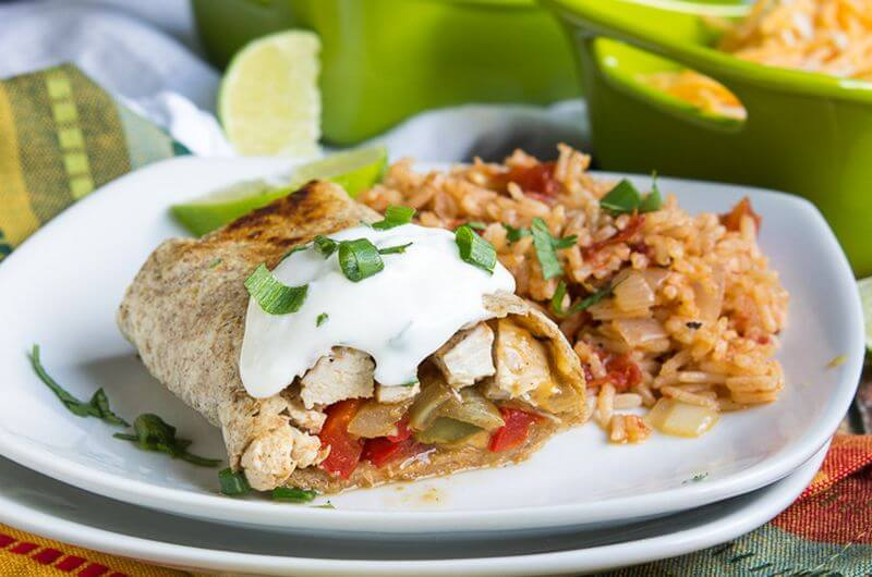 chicken fajita burrito recipe