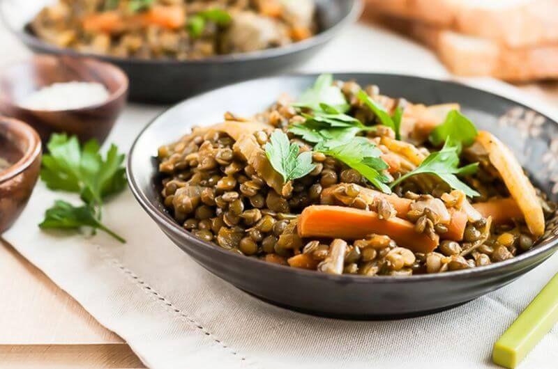 high protein vegan recipe lentils