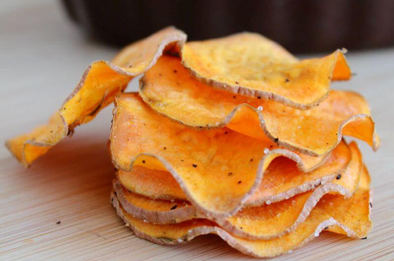 microwave sweet potato chips recipe