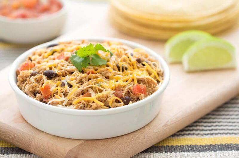 slow cooker chicken burritos