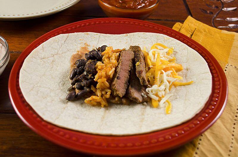 steak burritos