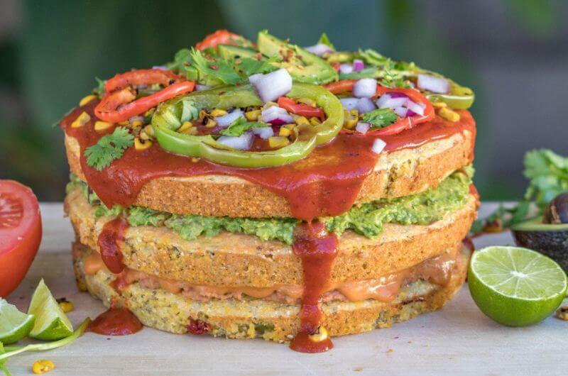 mexican cornbread pizza cake