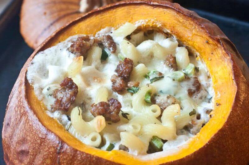 pumpkin filled mac and cheese