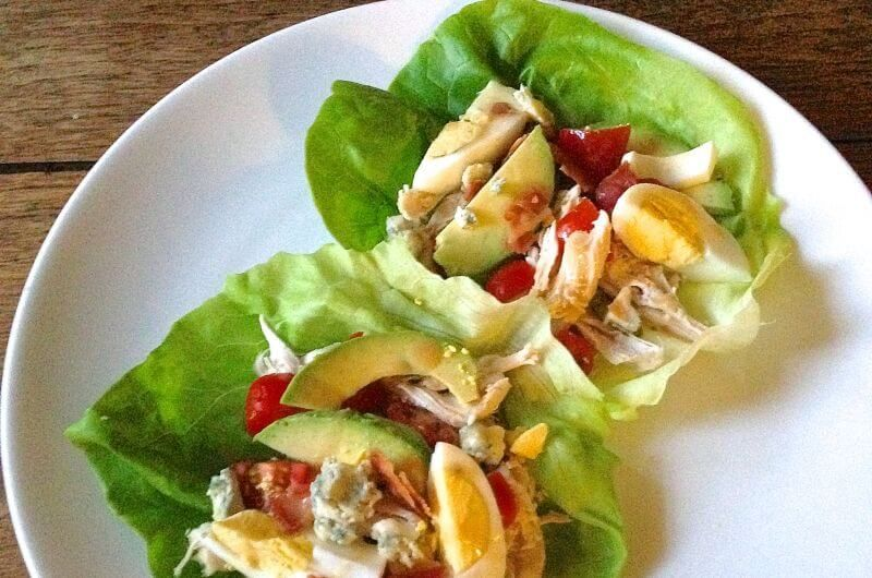 Cobb Salad Lettuce Wraps