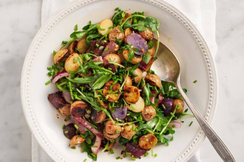 potatoes and salad dieting recipe