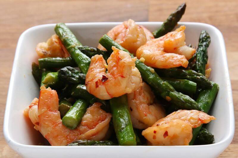 shrimp and asparagus dieting recipe