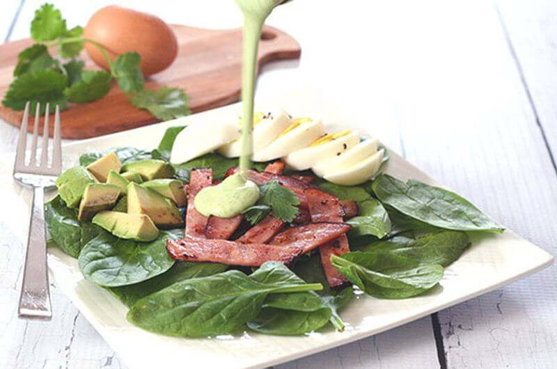 Greens Eggs and Ham Salad