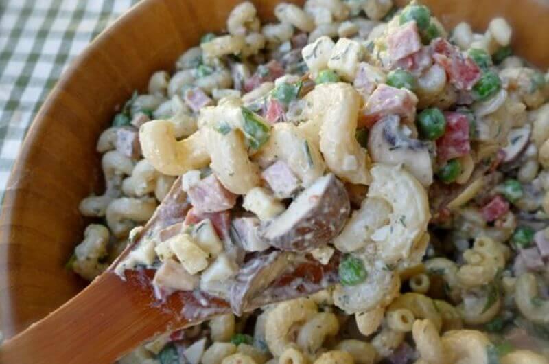 Peas Ham Pasta Salad