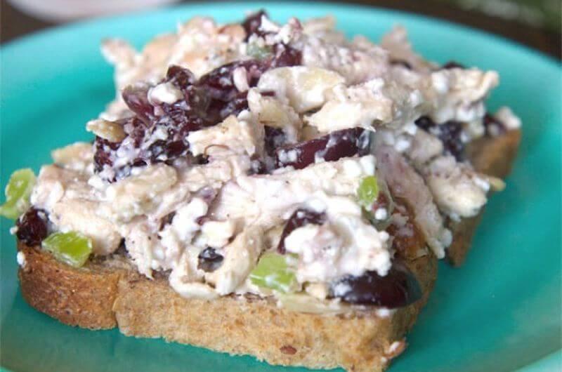 cottage cheese chicken salad sandwich