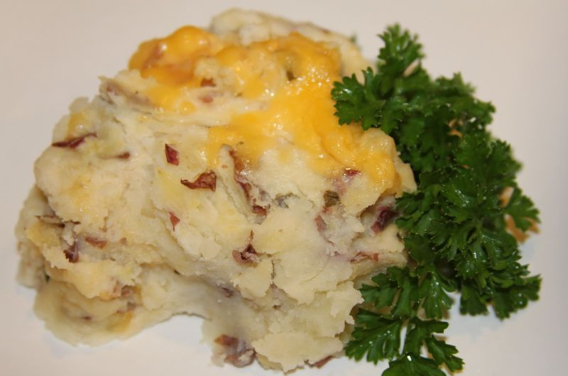 twice baked mashed potatos