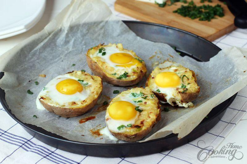 twice baked potato egg