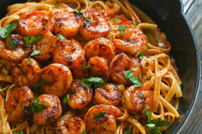 blackened-shrimp-pasta