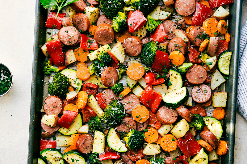 One-Pan-Sausage-Veggies-parmesan