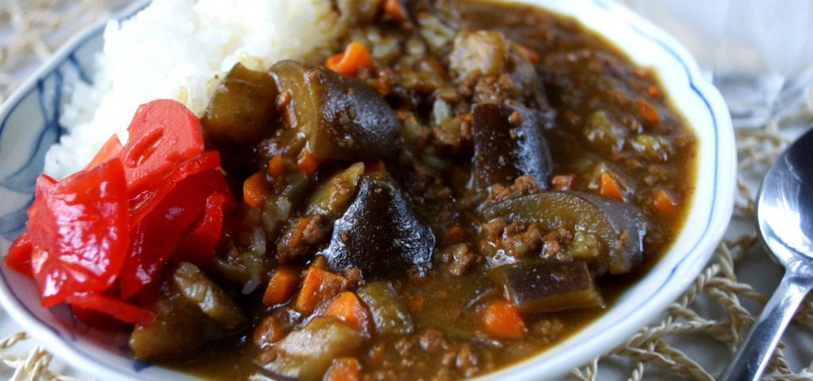 eggplant and ground beef curry