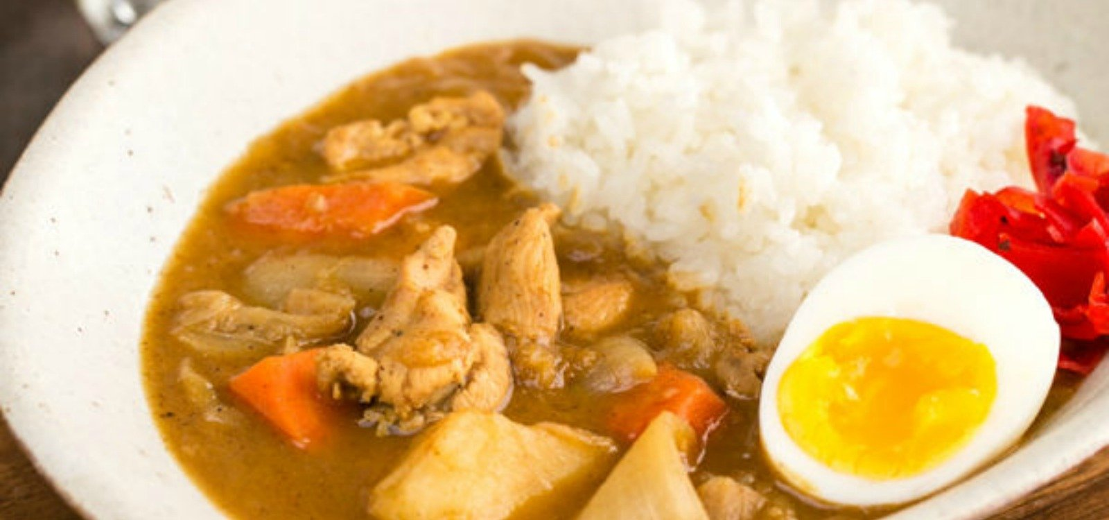 japanese chicken curry with fried egg