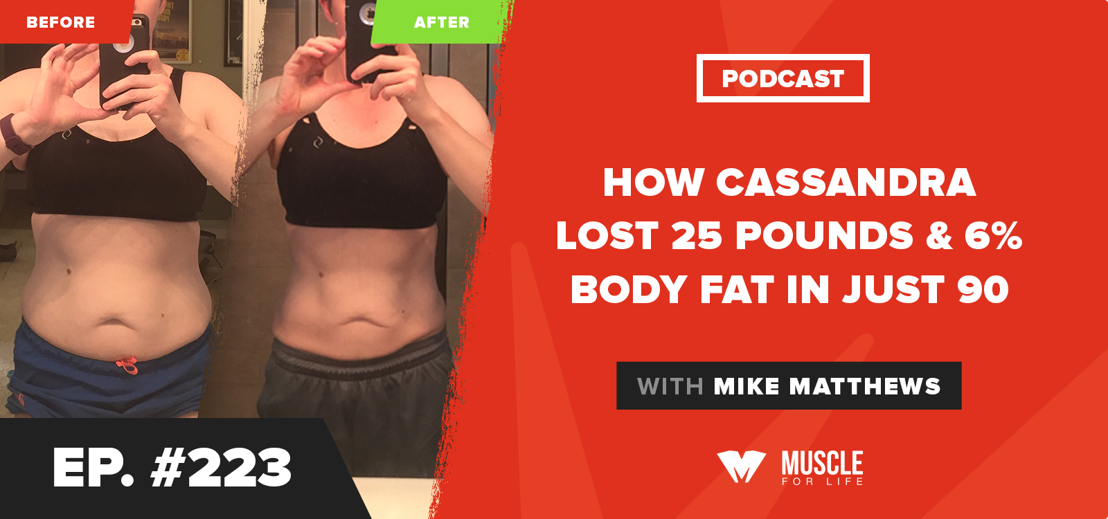 How Cassandra Lost 25 Pounds & 6% Body Fat In Just 90 Days