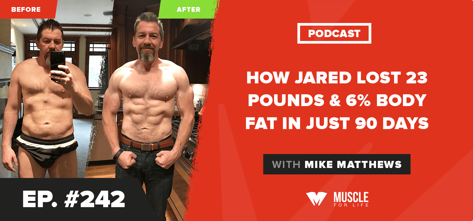 How Jared Lost 23 Pounds & 6% Body Fat In Just 90 Days