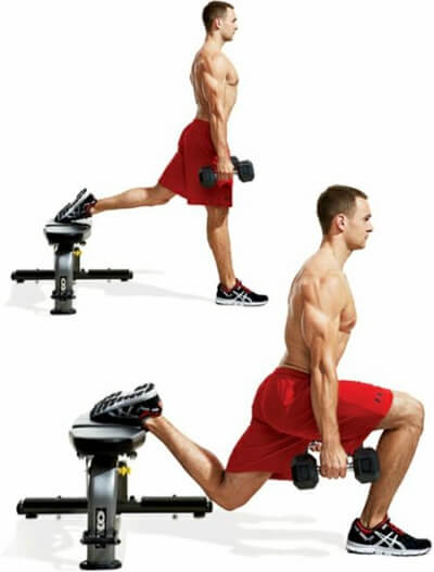 bulgarian dumbbell split squat
