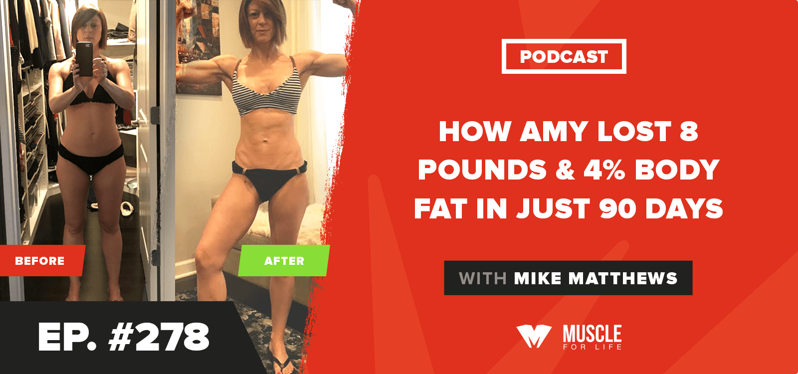 How Amy Lost 8 Pounds & 4% Body Fat In Just 90 Days