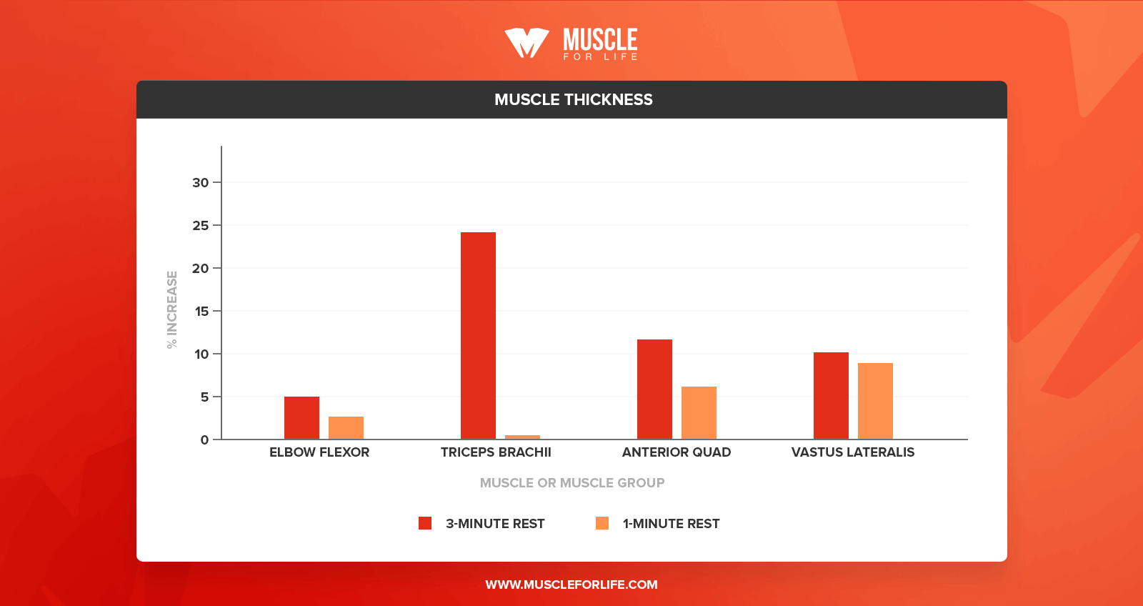 muscle thickness chart