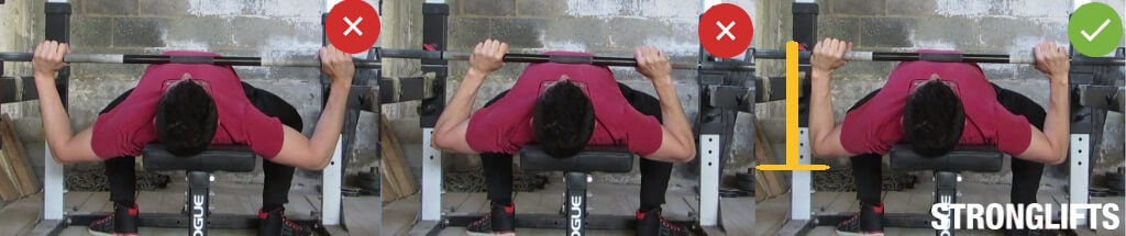 bench press elbow form
