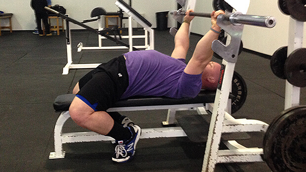 bench press feet position