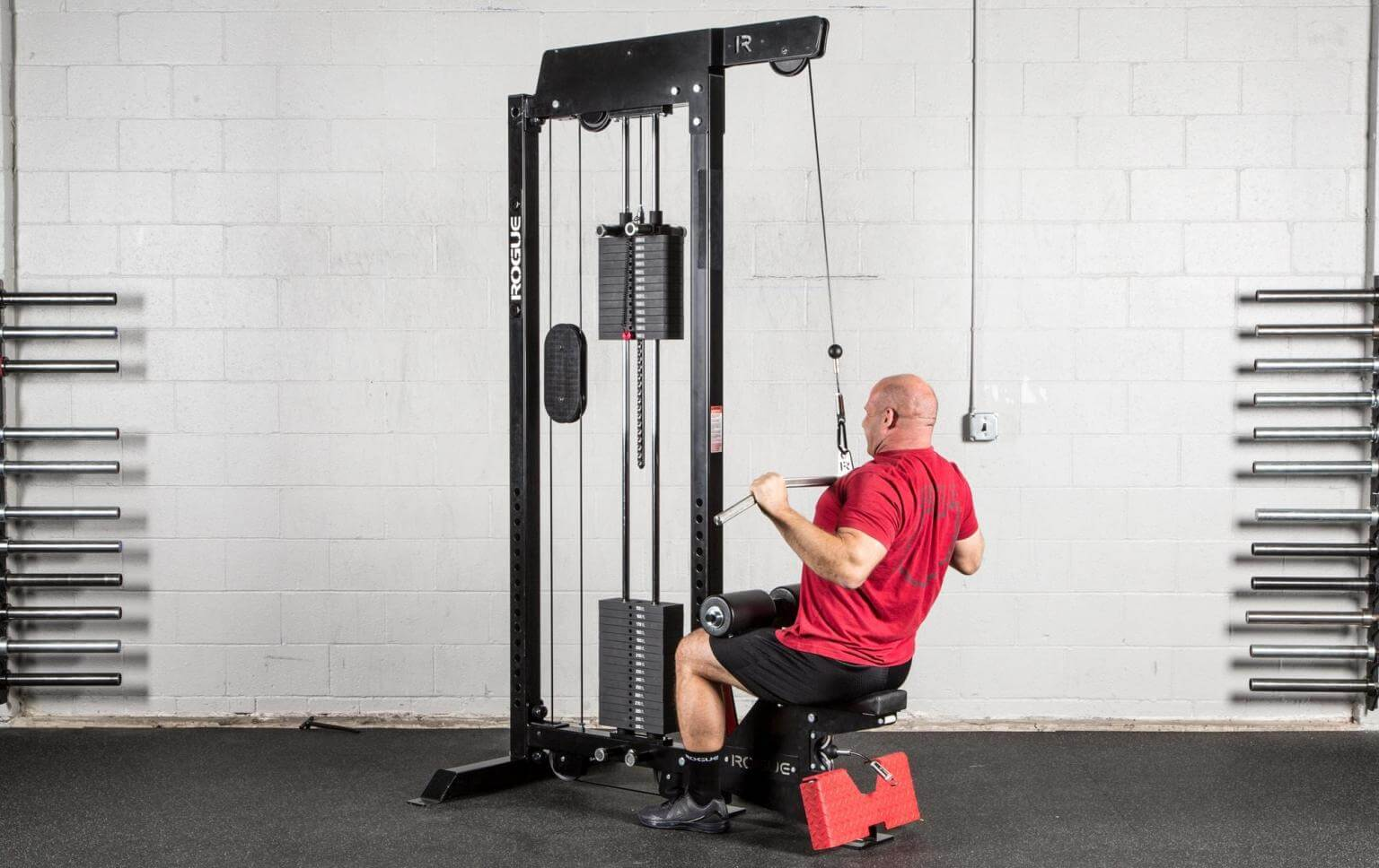 home gym lat pulldown machine