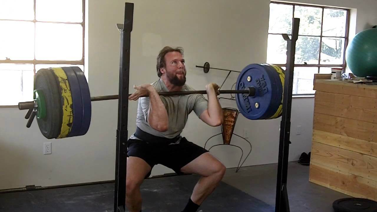 front squat bad form