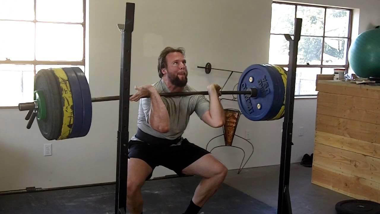 front squat bad form