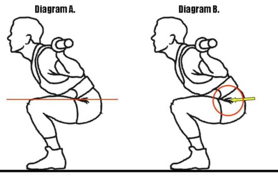 front squat depth