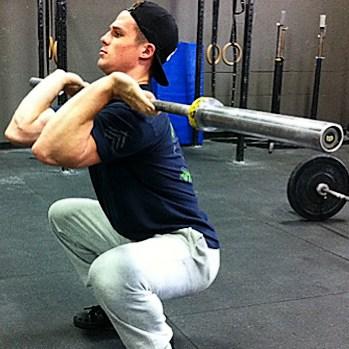 front squat elbows