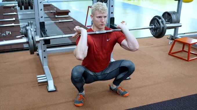front squat feet position