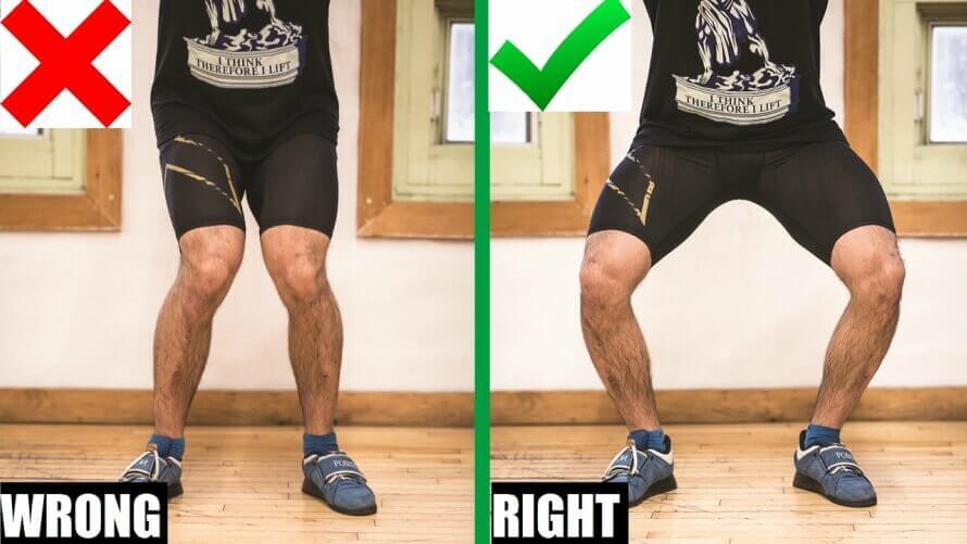 front squat knee position