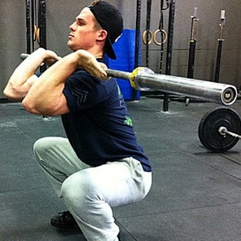 front squat elbows