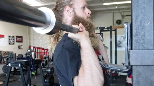military press barbell form