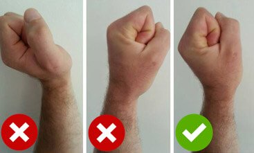 military press wrist position