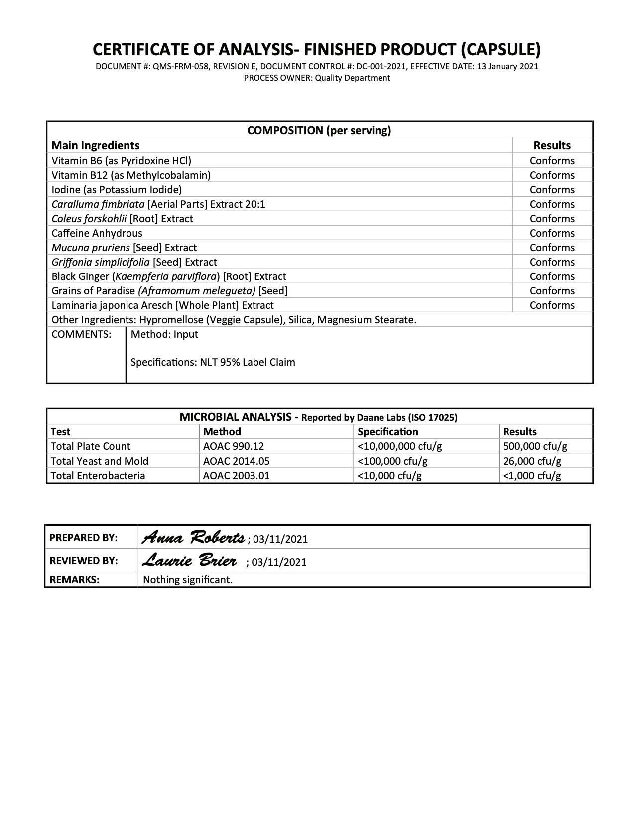Phoenix No-Stim Lab Test Page 2