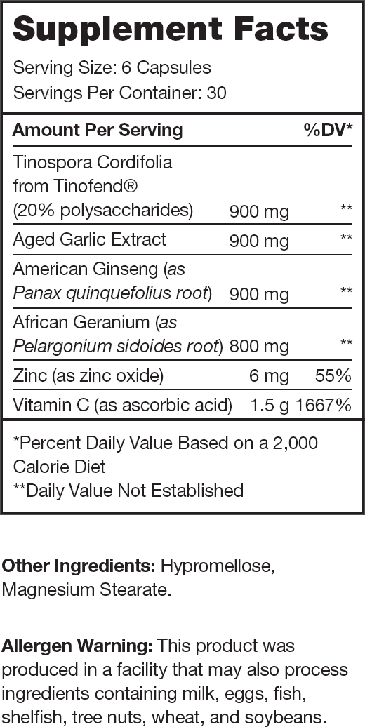 Immune Supplement Facts