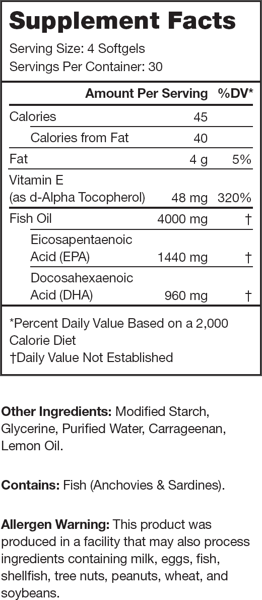 Triton Supplement Facts