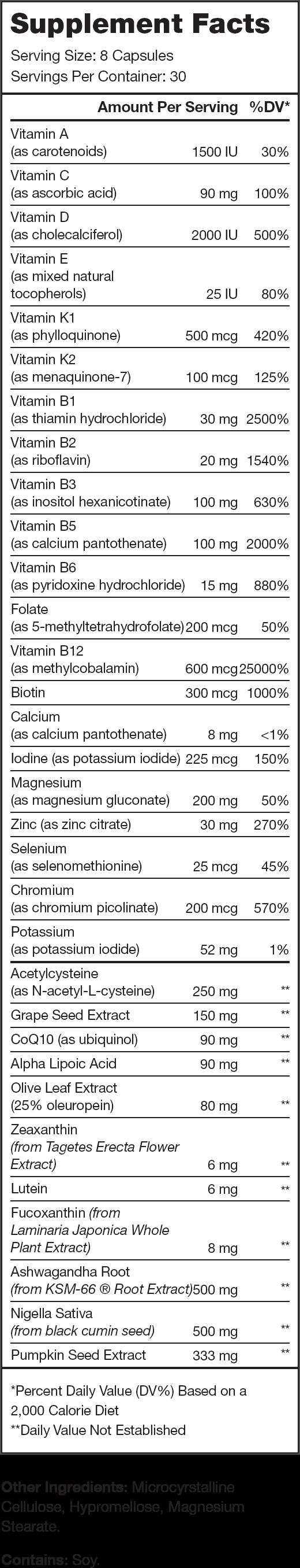 Triumph Supplement Facts