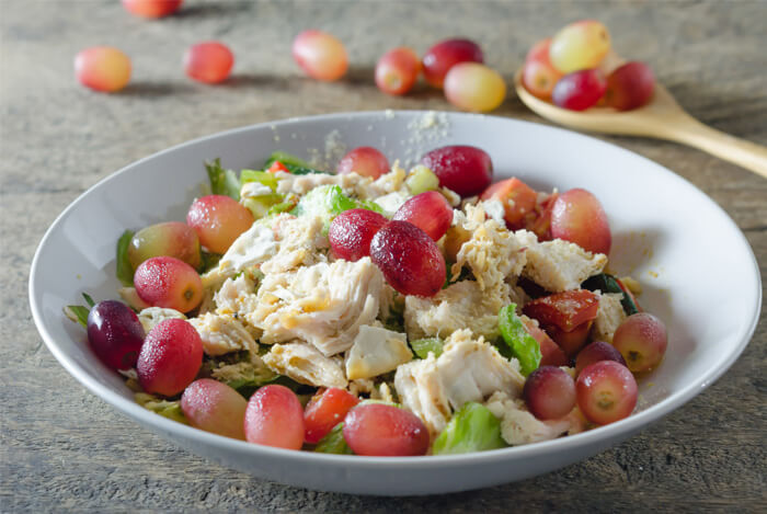 curried chicken salad grapes