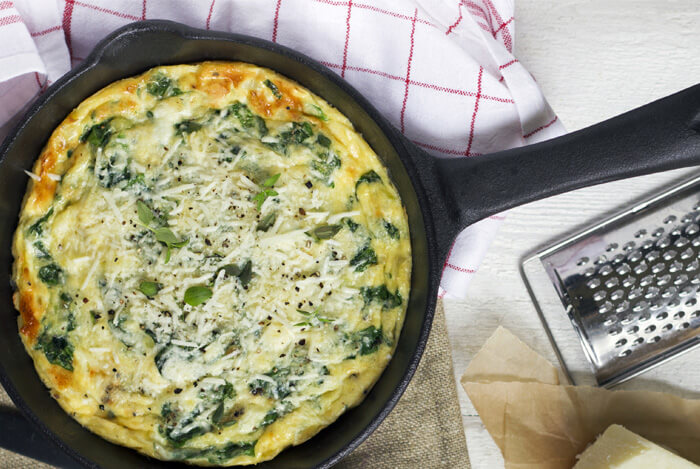 potatoe spinach frittata